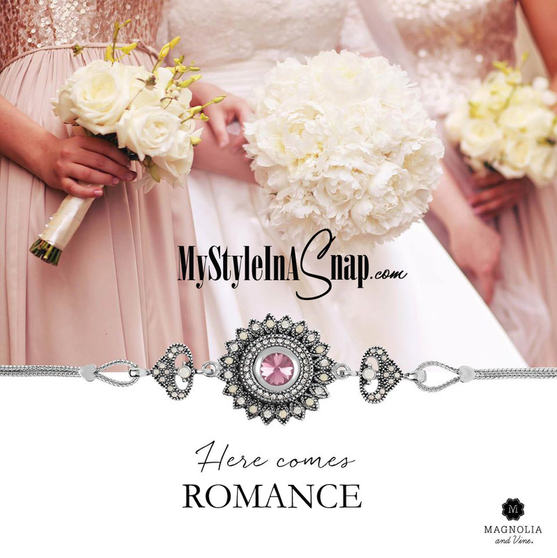 Add a little romance with the Magnolia and Vine Mini Vintage Romance Bracelet from MyStyleInASnap.com