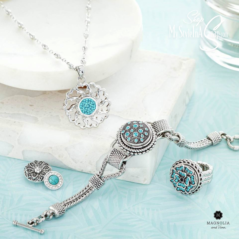 Magnolia and Vine interchangeable jewelry - Your Style in a Snap! at MyStyleInASnap.com