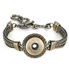 Magnolia and Vine Antique Brass Dream Weaver Bracelet #S0547 available at MyStyleInASnap.com