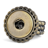 Magnolia and Vine Antique Brass Ring #S0760 available at MyStyleInASnap.com