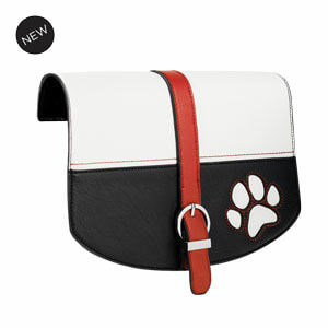 Best in Show Flap Accent Black/White/Red Flap Accent for our Interchangeable Handbags. Create the handbag of your dreams. Shop MyStyleInASnap.com