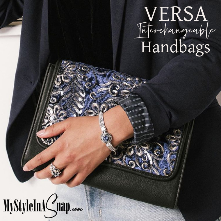 VERSA Handbag Collection -- base bags in 4 sizes, interchangeable Flap Accents and Wraparound Accents at MyStyleInASnap.com LOVE IT? Join us and get it all at consultant prices.