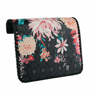 Dahila Embroidered Black/Multi Flap Accent for the VERSA INTERCHANGEABLE HANDBAG. Fits our Black Clutch and our Signature or Journey VERSA Base Bags in Black, Navy, Brown or Grey. VEGAN LEATHER. Carry crossbody or with the single short strap.  Shop MyStyleInASnap to see ALL THE FLAP ACCENTS! Love it? Join us and get it all at consultant prices!
