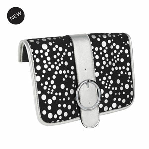 Dottie Flap Accent Black/Sliver Flap Accent for our Interchangeable Handbags. Create the handbag of your dreams. Shop MyStyleInASnap.com