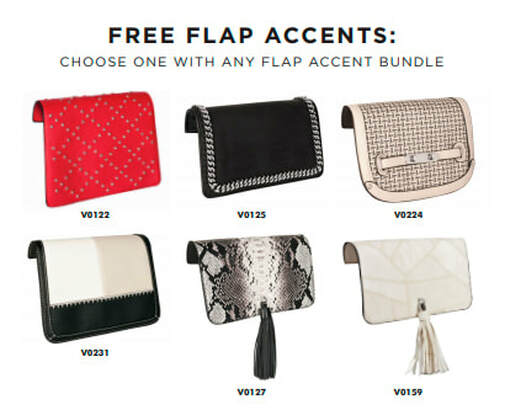 With any Flap Accent Bundle purchased, select one of these 6 Flap Accents for FREE! Shop MyStyleInASnap.com