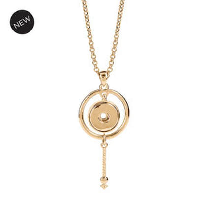 Starscape Necklace Yellow Gold Tone #S1667 at MyStyleInASnap.com