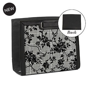 Flocked Floral Plaid Wraparound Accent Black/White for Versa Handbags - MyStyleInASnap.com