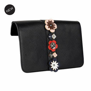 Geo Floral Flap Accent Black/Multi Flap Accent for our Interchangeable Handbags. Create the handbag of your dreams. Shop MyStyleInASnap.com