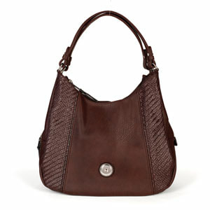 Grand Brown Carly Hobo Bag holds your choice of one 30mm Jewelry Snap (sold separately) at MyStyleInASnap.com