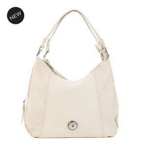 Grand Sandstone Carly Hobo Bag holds your choice of one 30mm Jewelry Snap (sold separately) at MyStyleInASnap.com