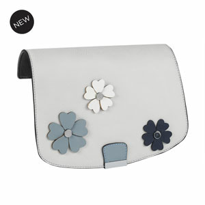 Grey Gardens Flap Accent Grey/Multi Flap Accent for our Interchangeable Handbags. Create the handbag of your dreams. Shop MyStyleInASnap.com