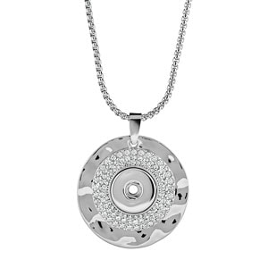 Hammered Medallion Necklace #S0785 at MyStyleInASnap.com