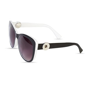 Magnolia and Vine Incognito Black and White Sunglasses accented with Jewelry Snaps available at MyStyleInASnap.com