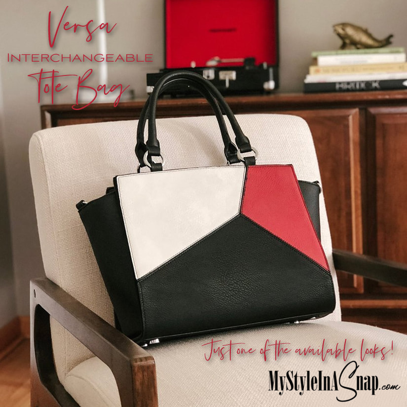 The Milano Wraparound Accent in red, white and black for the Versa Tote Bag is a must for color-block fans and just one of the many interchangeable Accents to wraparound the Tote Base Bag. Shop all the Accents and Handbags at MyStyleInASnap.com LOVE IT? Join us and get it all at consultant prices.