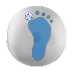 Mini It's A Boy Blue Foot Snap
