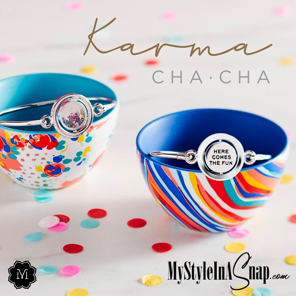 You'll love this twist! Our new Karma Cha Cha rotating bracelets feature a sentiment on one side, a slice of fun on the other. Discover your mantra today!  Shop MyStyleInASnap.com LOVE IT? Join us and get it all at consultant prices!
