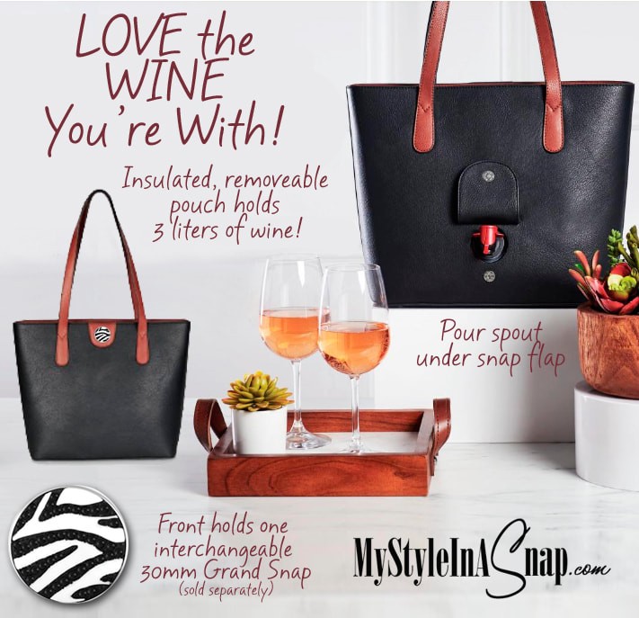 Grand Sommelier Tote Bag holds 3 liters of wine! MyStyleInASnap.com