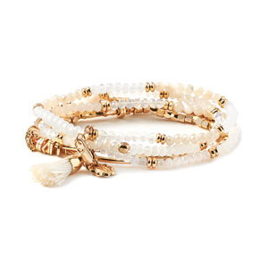 Magnolia and Vine Beaucoup Bracelet Neutral/Gold #V0019 available at MyStyleInASnap.com