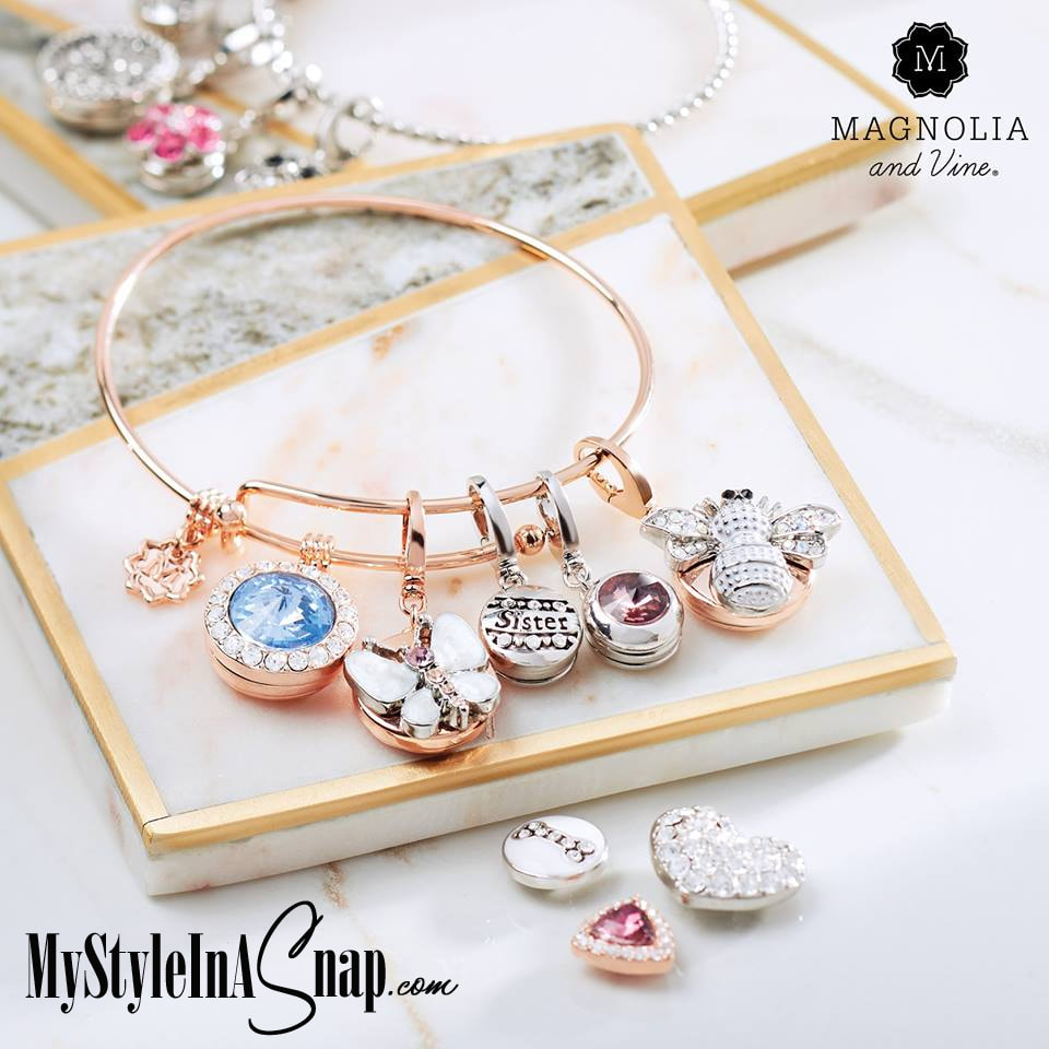 Perfect gift for her! Our Perfect Circle Bracelet, add a few Snap Charms, and finish with sparkly Snaps she can change in and out in an instant. SHOP MyStyleInASnap.com LOVE IT? Join us and get it all at consultant prices.