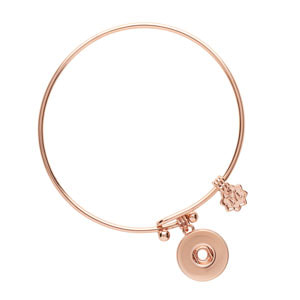 Rose Gold Perfect Circle Snap Jewelry Bracelet at MyStyleInASnap.com
