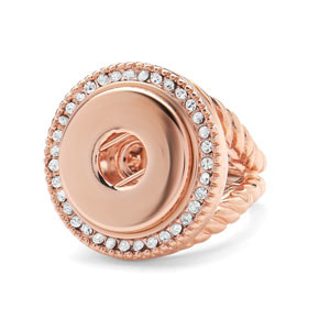 Rose Gold Radiant Stretch Ring (Fits 5.5-8) #S1186 (Small)