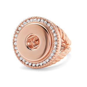 Rose Gold Radiant Stretch Ring (Fits 8-10.5) #S1432