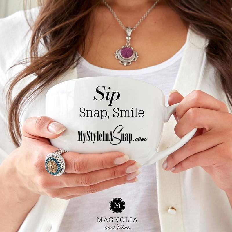 Magnolia and Vine Snap Jewelry available at MyStyleInASnap,com - BUY 4 SNAPS, GET 1 FREE! - at MyStyleInASnap.com