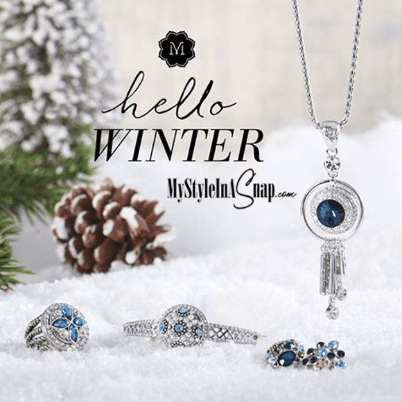 Hello Winter! Magnolia and Vine interchangeable Snap jewelry available at MyStyleInASnap.com - BUY 4 SNAPS, GET 1 FREE!