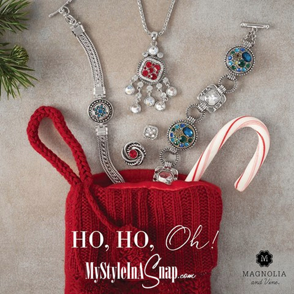 Gift Ideas from Magnolia and Vine available at MyStyleInASnap.com - Interchangeable snap jewelry that your wardrobe and budget will love! BUY 4 SNAPS, GET 1 FREE!