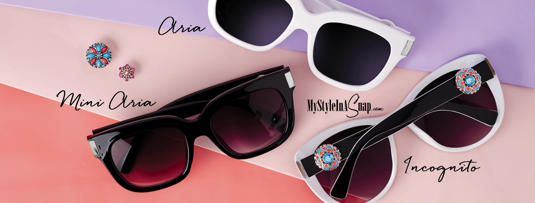 Magnolia and Vine Snap Jewelry Sunglasses