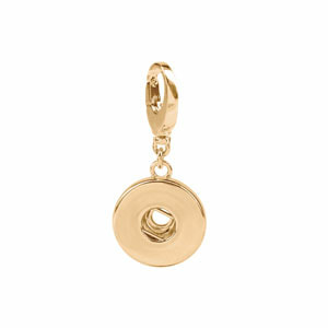 Yellow Gold Tone Snap Charm #S1670 by Magnolia and Vine available at MyStyleInASnap.com