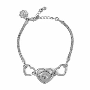 Mini 3 of Hearts Bracelet takes one interchangeable Jewelry Snap