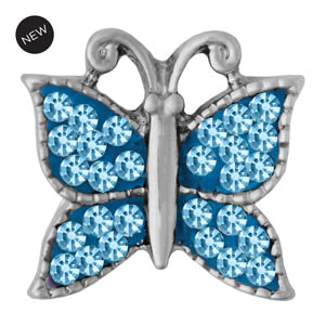Mini Butterfly Wings Aqua Snap #M0776 by Magnolia and Vine available at MyStyleInASnap.com