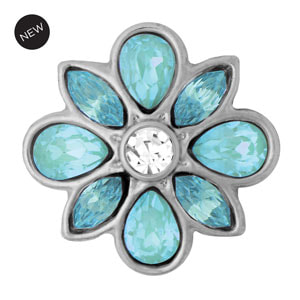Mini Corsage Aqua Snap #M0786 by Magnolia and Vine available at MyStyleInASnap.com