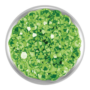 Magnolia and Vine Mini Dazzle Peridot Snap #M0125