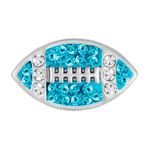 Mini Football Aqua/Clear Snap at MyStyleInASnap.com