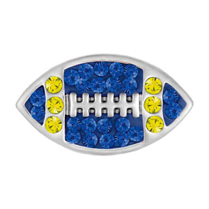 Mini Football Royal Blue/Yellow Snap #M1146 at MyStyleInASnap.com