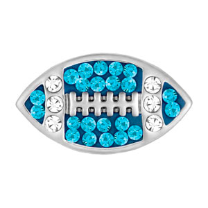 Mini Football Teal/Clear Snap at MyStyleInASnap.com