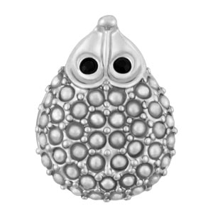 Mini Happy Hedgehog White Pearl Snap at MyStyleInASnap.com