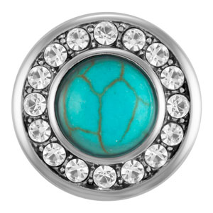 Magnolia and Vine Mini Lulu Turquoise Snap #M0041 available at MyStyleInASnap.com