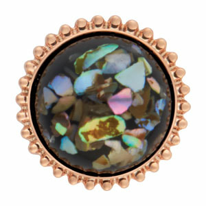 Mini Rose Gold Sierra Black/Multi Speckle Snap at MyStyleInASnap.com