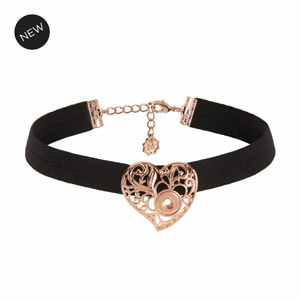 Mini RG Valentina Stretch Choker or wear the heart on a chain