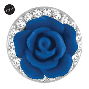 Mini Rosette Royal Blue Snap #M0790 by Magnolia and Vine available at MyStyleInASnap.com