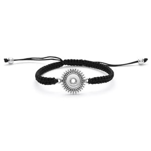 Magnolia and Vine # M0196 Mini Starburst Woven Bracelet Black  available at MyStyleInASnap.com