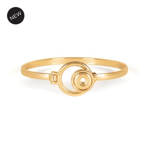 Mini Yellow Gold Sidestep Bracelet (5.5-7.5 inches) at MyStyleInASnap.com