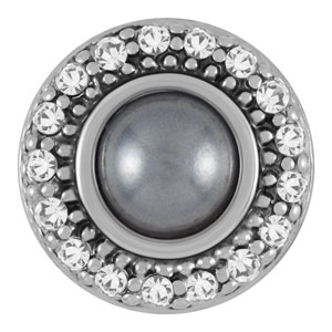 Magnolia and Vine Mini Zelda Grey Pearl Snap #M0260 available at MyStyleInASnap.com