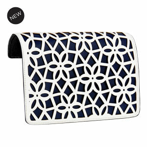 Pixie Flap Accent White/Navy Flap Accent for our Interchangeable Handbags. Create the handbag of your dreams. Shop MyStyleInASnap.com