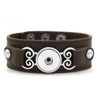 Magnolia and Vine Curlicue Leather Bracelet Brown #S1138 available at MyStyleInASnap.com