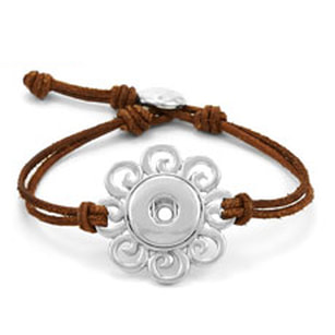 Magnolia and Vine De Flores Leather Bracelet Brown #S1137 available at MyStyleInASnap.com