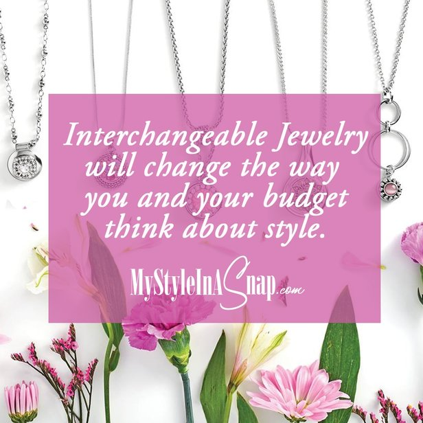 Intercchangeable jewelry will change the way you and your budget think about style! Learn more at MyStyleInASnap.com